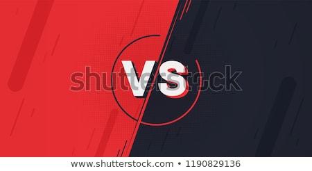 Vs walki bitwa ekranu projektu piłka nożna Zdjęcia stock © SArts