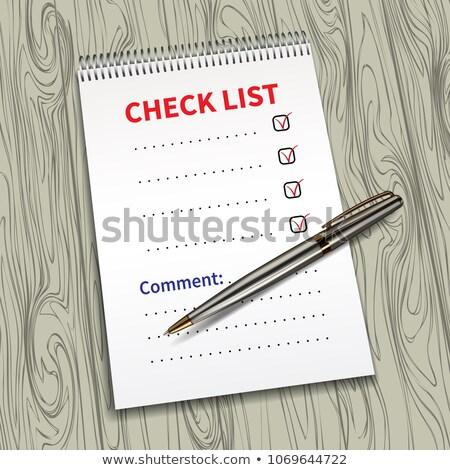 Valósághű lista fa deszka izolált fehér fa Stock fotó © evgeny89