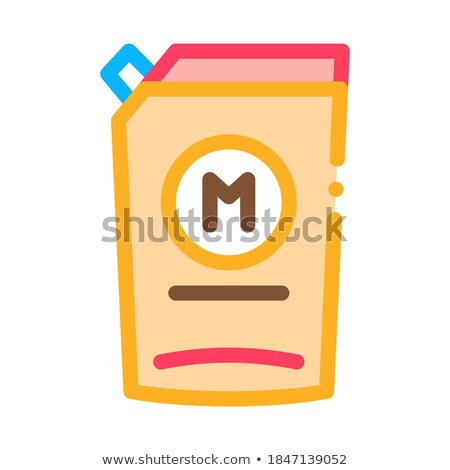 Pack mayonaise icon vector schets illustratie Stockfoto © pikepicture