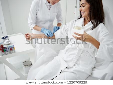 Vitamin infúzió terápia lány kezek nők Stock fotó © AndreyPopov