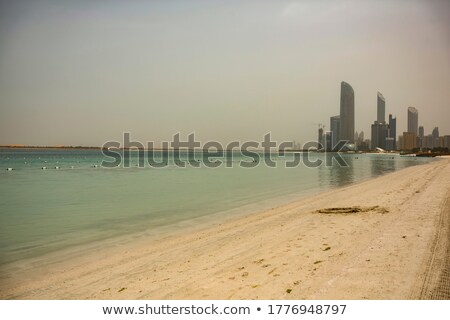 Al Bahar beach at Abu Dhabi Stock photo © boggy