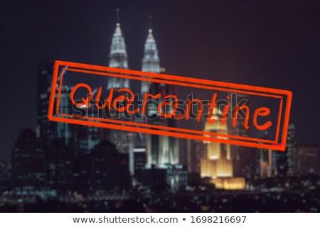 Quarantine due to coronavirus epidemic covid19 Kuala lumpur skyline at night, Malaysia, Kuala lumpur Stock photo © galitskaya
