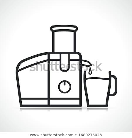 Vector juice extractor machine icon Stock photo © nickylarson974
