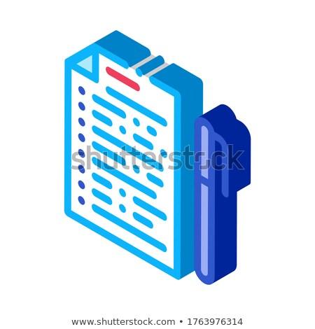 Votação folha caneta isométrica ícone vetor Foto stock © pikepicture