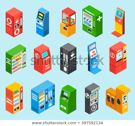Slot Machine isometric icon vector illustration Stock photo © pikepicture