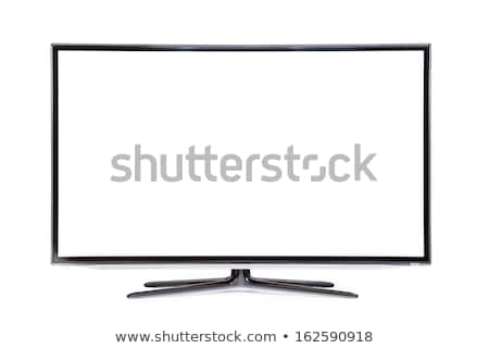Preto tft monitor isolado branco escritório Foto stock © restyler