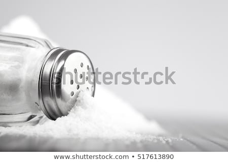 соль Spice нержавеющая сталь ложку изолированный белый Сток-фото © luissantos84