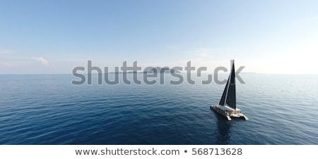 vela · barcos · marina · lago · Balaton · madera - foto stock © lithian