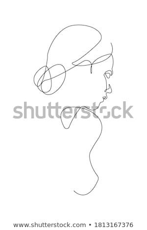 美しい · 女性 · 図 · 手 · 白 · 女性 - ストックフォト © Elmiko