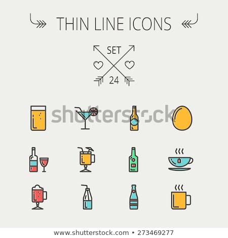 Pić ikona soczysty tradycyjny napojów Zdjęcia stock © sahua
