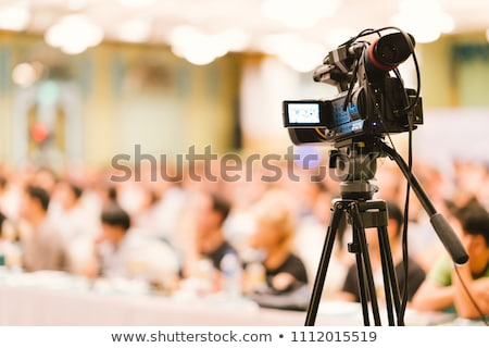 Stock photo: Journalists on exhibition