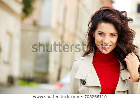 Güzel İtalyan kadının gülümseme genç kadın artistik Stok fotoğraf © lubavnel