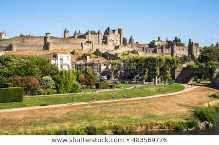 carcassonne fortified town stock photo © razvanphotography