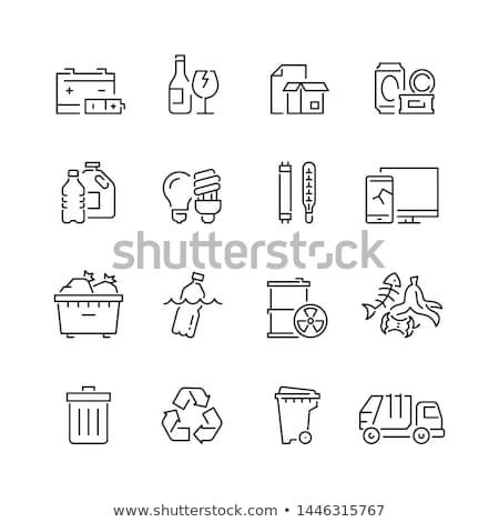 オーガニック · 廃棄物 · 黒 · 白 - ストックフォト © pterwort