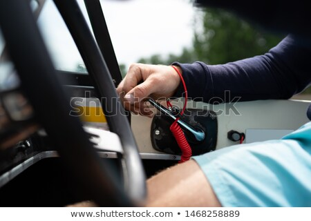 man with a cord on hands stock photo © cookelma