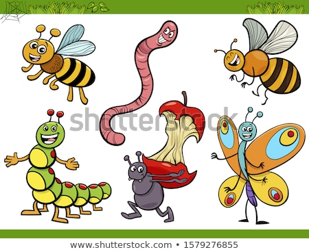 Cartoon Character Worm Stock photo © RAStudio