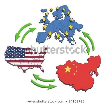 americano · chinês · cooperação · sucesso · dois · peças - foto stock © alvinge