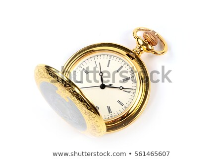 antique pocket watch in case stock photo © hofmeester