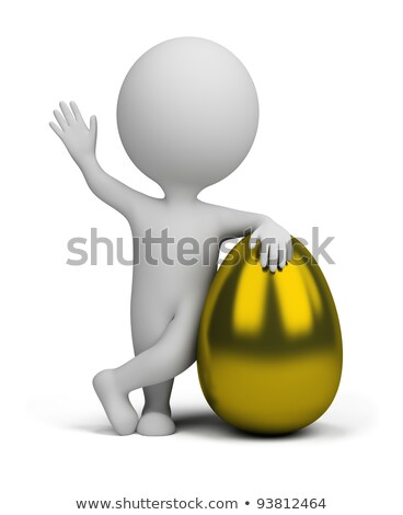 3d small people - golden egg Stock photo © AnatolyM