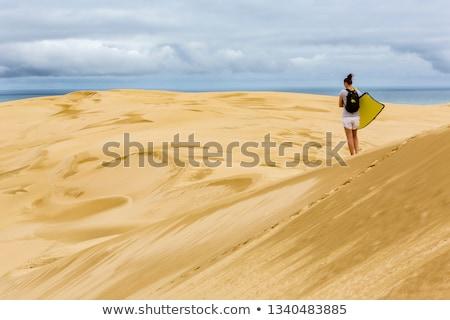 песок · песчаная · дюна · Панорама · север · острове · Новая · Зеландия - Сток-фото © emiddelkoop
