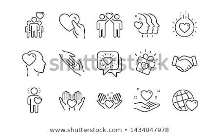 people in love, vector icon set Stock photo © beaubelle