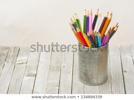Coloré crayons contenant isolé blanche crayon Photo stock © gyongy