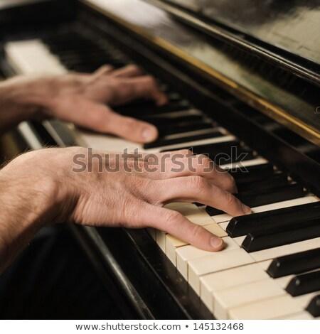 Clavier clé affaires travaux Photo stock © gyongy