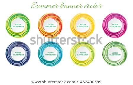 ストックフォト: セット · 色 · 面白い · ラベル · 実例 · 幸せ