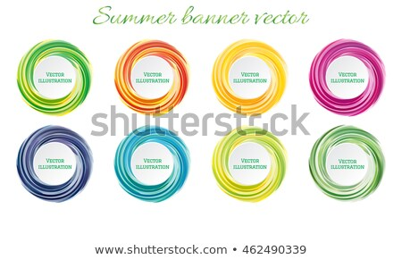 Set of color funny labels Stock photo © Elmiko