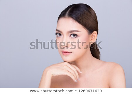 Woman With Beautiful Big Eyes Stock photo © stryjek