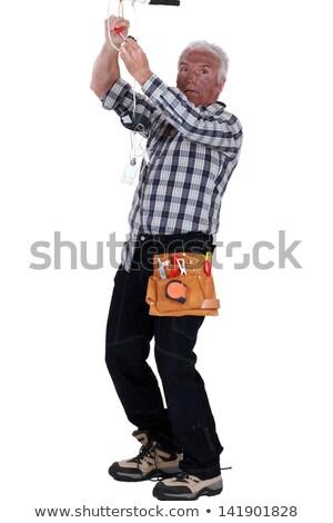 homem · teto · rosa · negócio · casa · construção - foto stock © photography33
