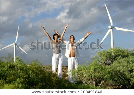 Zen couple on a wind farm Stock photo © photography33