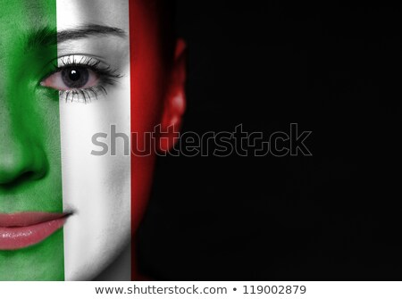 close up of faces of joyful italian soccer supporters Stock photo © photography33