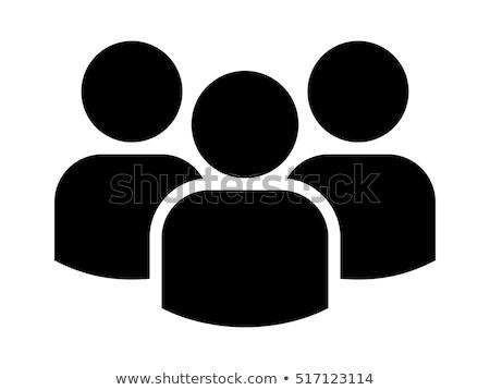 Trzy osoby uśmiech strony twarz kobiet zimą Zdjęcia stock © Paha_L