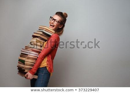 nerd with a book stock photo © stevanovicigor