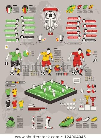 piłka · nożna · meczu · Dania · vs · Francja · piłka · nożna - zdjęcia stock © sahua