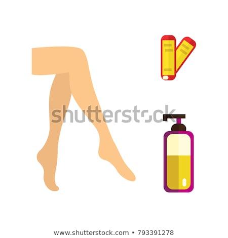 vrouwelijke · benen · procedure · dag · spa · geïsoleerd - stockfoto © Nobilior