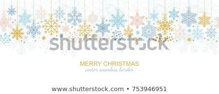 sneeuwvlokken · vector · 3D · abstract · christmas - stockfoto © spectrum7