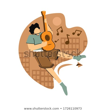 Man with guitar woman with microphone Stock photo © photography33