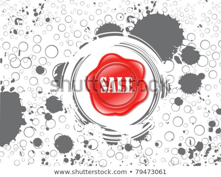 abstract red shiny plastic discount stamp Stock photo © pathakdesigner