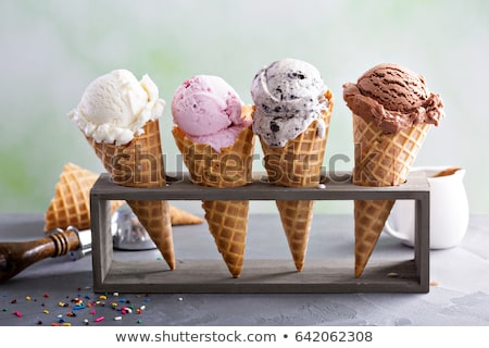 Ijs voedsel dessert icecream zoete mint Stockfoto © M-studio