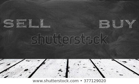 Pénzügy szó írott mázgás iskolatábla kínai Stock fotó © bbbar