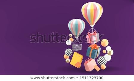 Nyár bevásárlószatyor üzlet égbolt divat pálma Stock fotó © carodi