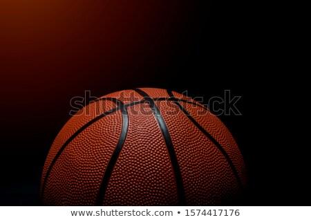Basket primo piano shot texture sport arancione Foto d'archivio © ozaiachin