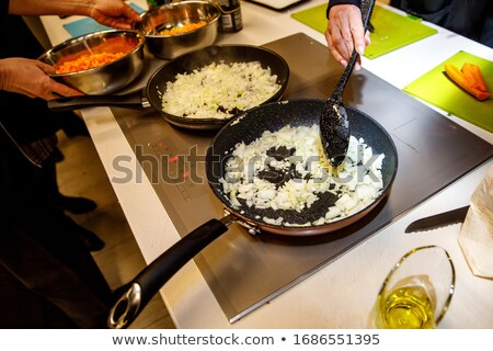 Vegetarian stirfry on a skillet Stock photo © veralub