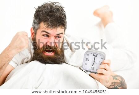 Uomo urlando sveglia riunione lavoro modello Foto d'archivio © photography33