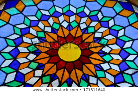 Stained Glass Window in Mezquita Stock photo © rognar