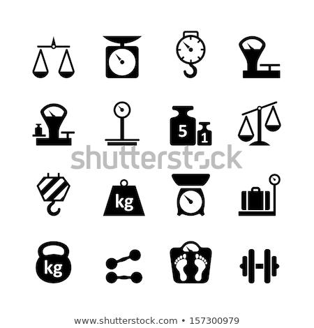 conjunto · precisão · pesos · saldo · escala · balança - foto stock © ozaiachin