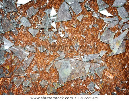 Background - broken glass on steel floor Stock photo © pzaxe
