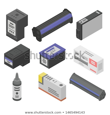 cmyk ink cartridges for laser copier machine stock photo © vladacanon